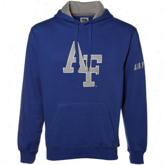 Air Force Falcons Royal Blue Greek  Twill Hoody Sweatshirt