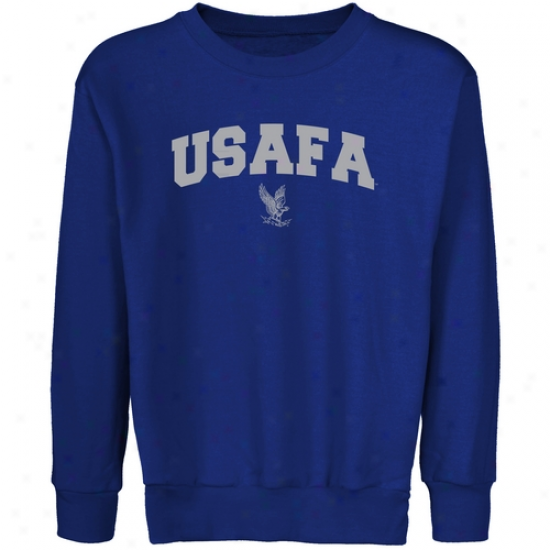 Air Force Falcons Youth Royal Blue Logo Arch Crew Necck Fleece Sweatshirt