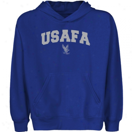 Air Force Falcons Youht Royal Blue Logo Arch Pullover Hoody