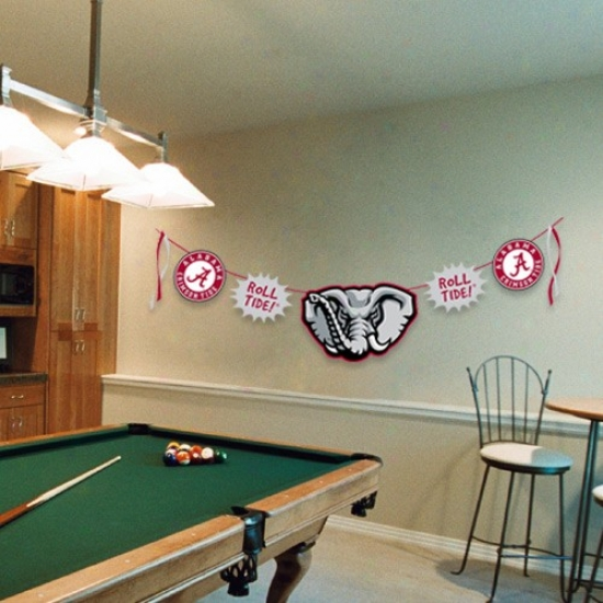 Alabama Crimson Tide 11.5' Applique Clotesline Banner