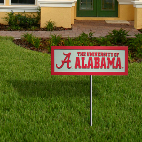 Alabqma Crimson Tide 12.5'' X 4.5'' Garden Sign
