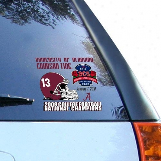 Alabama Crimson Tide 2009 Bcs National Champions Small Cling