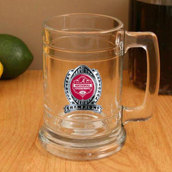 Alabama Crimson Tidw 2011 Bcs National Champions 15oz. Glass Tankard