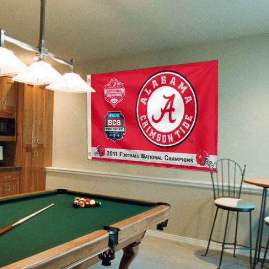 Alabama Crimson Tide 2011 Bcs National Champions 3' X 5' Flag