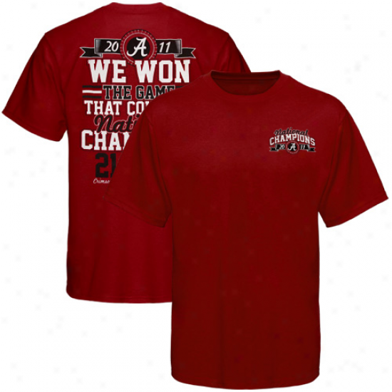 Alabama Crimson Tide 2011 Bcs National Champions Game That Counted Score T-shirt - Crimson