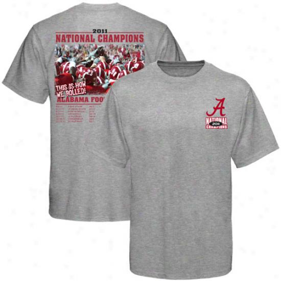 Alabama Crimson Tide 2011 Bcs National Champions Recap T-shirt - Ash