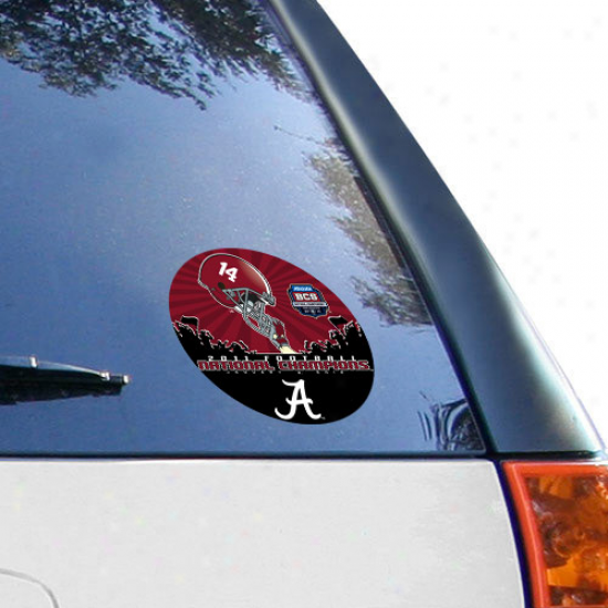 Alabama Crimson Tide 2011 Bcs National Champions Round Vinyl Decal