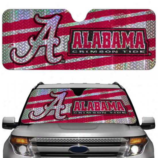 Alabama Crimson Tide 23'' X 57'' Reflective Auto Sun Shade