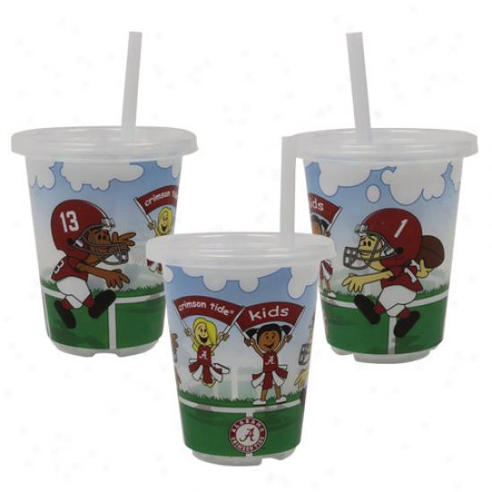Alabama Crimson Tide 3-pack 10oz. Sip N' Go Plastic Cups