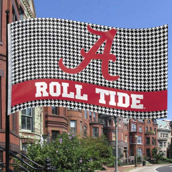 Alabama Crimson Tide 3' X 5' Houndstooth Flag