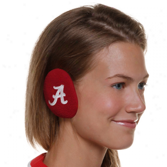 Alabama Crimson Tide Bandless Fleece Ear Warmers