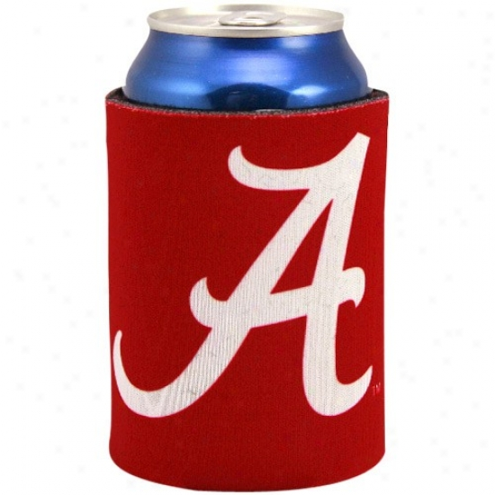 Alabama Crimson Tide Crimson Collapsible Can Coolie