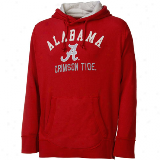 Alabamq Crimson Tide Crimson Fuse Thermal Pullover Hoody