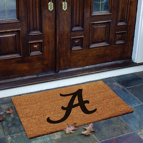 Alabama Crimson Tide Flockwd Coir Door Mat
