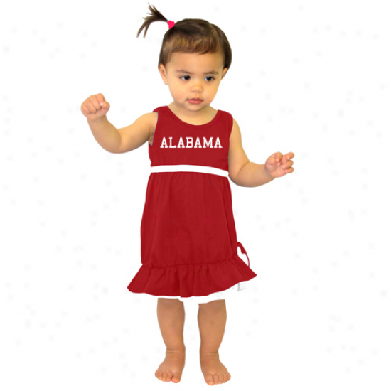 Alabama Crimson Tide Infant Girls Crimson Lonestar Dress
