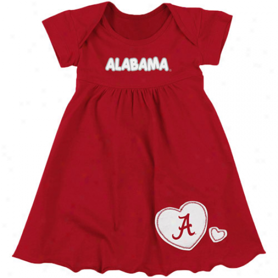 Alabama Crimson Tide Infant Girls Superfan Dress - Crimson