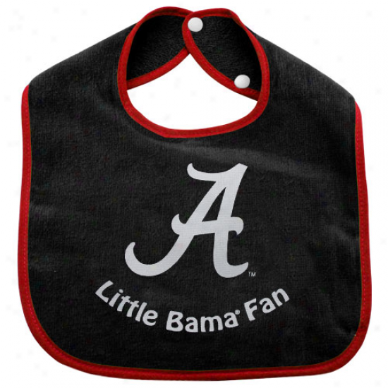 Alabama Crimson Tide Infant Little Fan Bib - Dismal