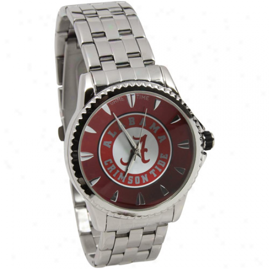 Alabama Crimson Tide Manager Stainless Steel Watch