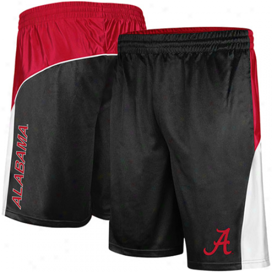 Alabama Crimson Tide Patriot Workout Shorts - Black-crimson