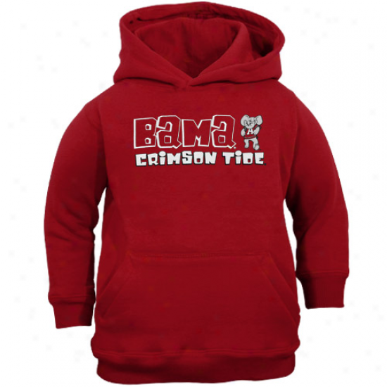 Alabama Crimson Tide Toddler Crimson Team Spirit Pullover Hoodie Sweatshirt