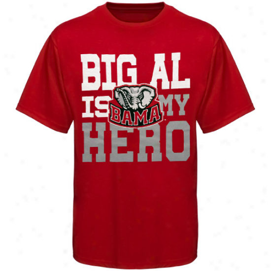 Alabama Crimson Tide Youth Big Al Is My Hero T-shirt - Crimson