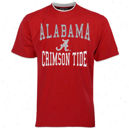Alabama Crimson Tide Youth Crimson Double Layer T-shirt