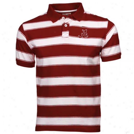 Alabama Crimson Tide Youth Crimson-white Tyler Strie Polo