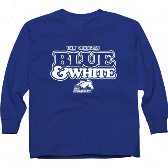 Alabama Huntsville (uah) Chargers Youth Our Colors Long Sleeve T-shirt - Royal Blue