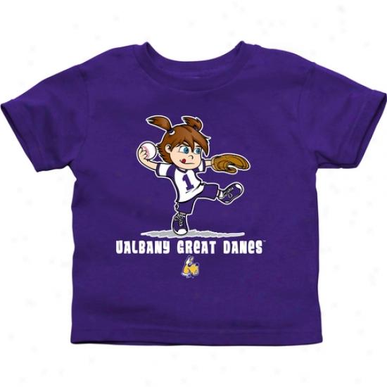 Albany Great Danes Toddler Girls Softball T-shirt - Purple