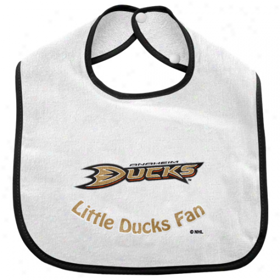Anaheim Ducks Infant White Littld Fan Bib