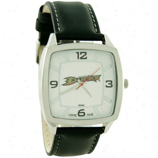 Anaheim Ducks Retro Watch W/ Leather Band