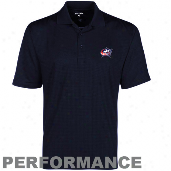 Antigua Columbus Blue Jackets Navy Blue Phoenix Performance Polo