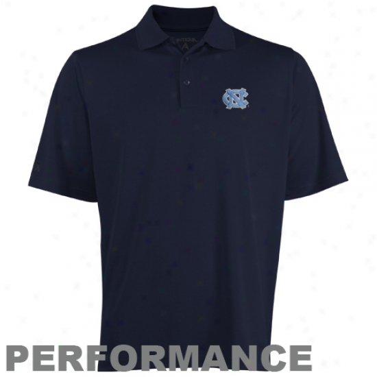 Antigua North Carolina Tar Heels (unc) Navy Blye Exceed Performance Polo