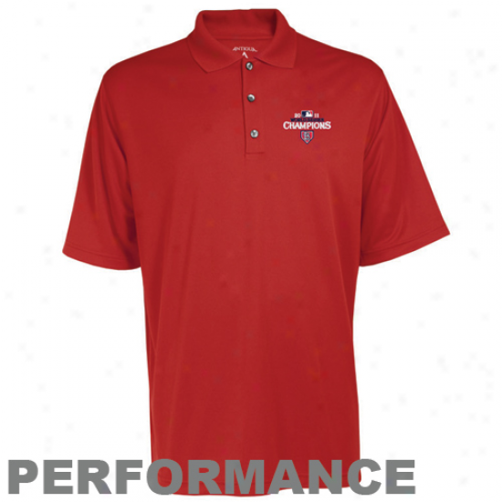 Antigua St. Louis Cardinals Red 2011 World Series Champions Exceed Performance Polo