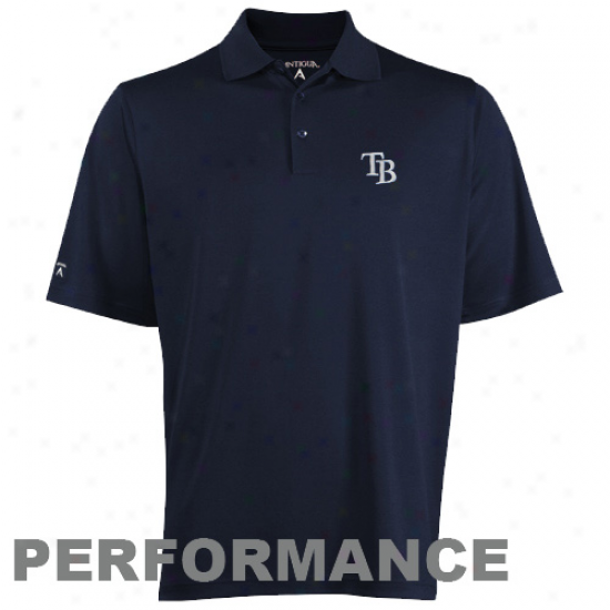 Antigua Tampa Bay Rays Offend Performance Polo - Navy Blhe