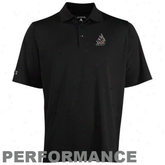 Antigua Ucf Knights Black Esceed Performance Polo