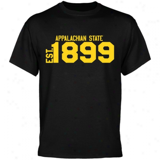 Appalachian State Mountaineers Black Est. Date T-shirt