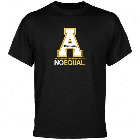 Appalachian State Moutnaineers Black Mountain Top T-shirt
