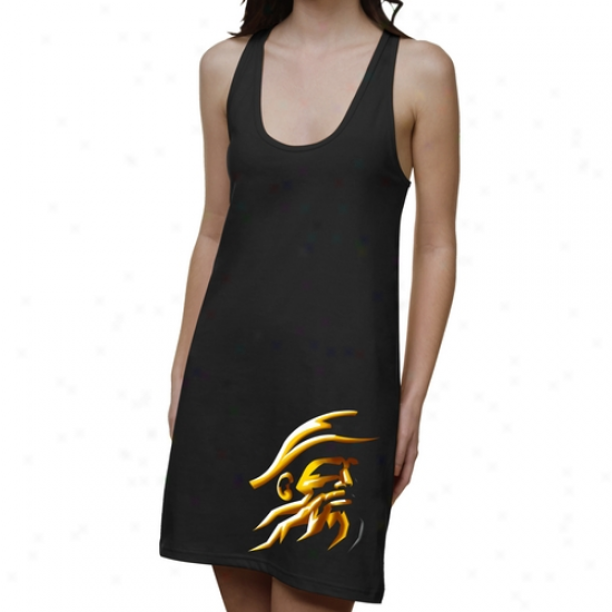 Appalachian State Mouhtaineers Ladies Blackout Junior's Racerback Dress - Dismal