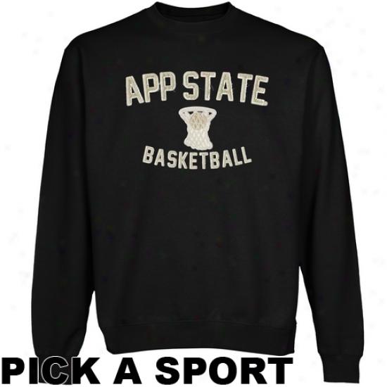 Appalachian State Mountaineers Legacy Crew Neck Fleece Sweatshirt - Black