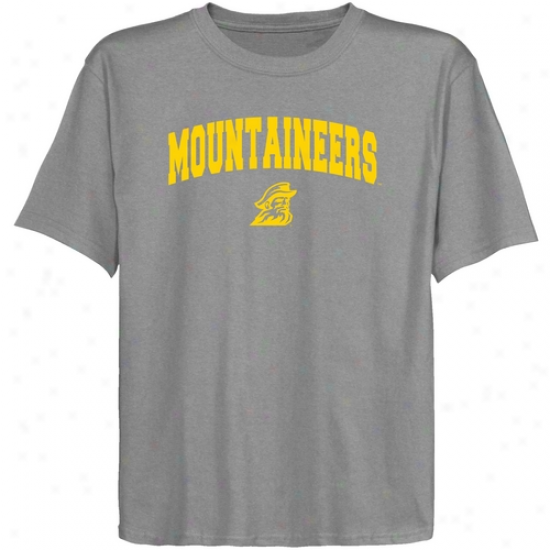 Appalachian State Mountaineers Youth Ash Logo Arch T-shirt