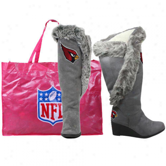 Arizona Cardinals Ladies Charcoal Team Supporter Knee-high Boots