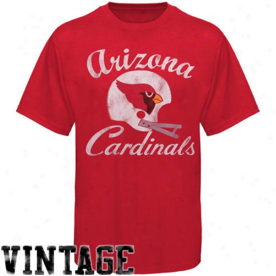 Arizona Cardinals Vintage Crew Rate above par T-shirt - Cardinal