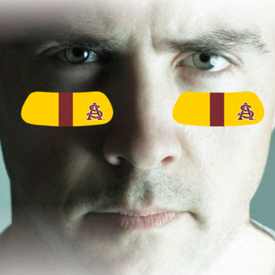Arizona State Sun Devils 2-pair Gold Team-colored Eye Black Strips