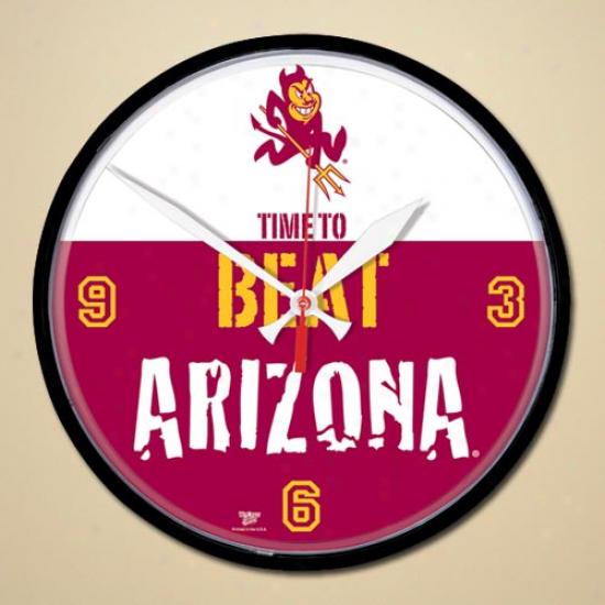 Arizona State Sun Devils Beat Arizona Wall Clokc