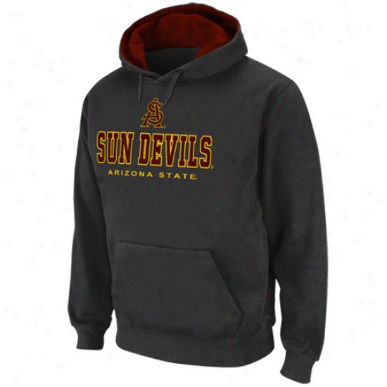 Arizona Commonwealth Sun Devils Charcoal Sentinel Pullover Hoodie Sweatshirt