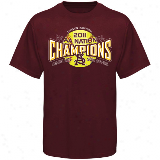 Arizona State Sun Devuls Youth 2011 Ncaa Women's Softball College World Series Champions T-shirt - Maroon