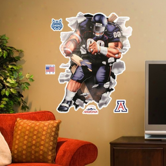 Arizona Wildcats 3' Football Player Wall Crasher