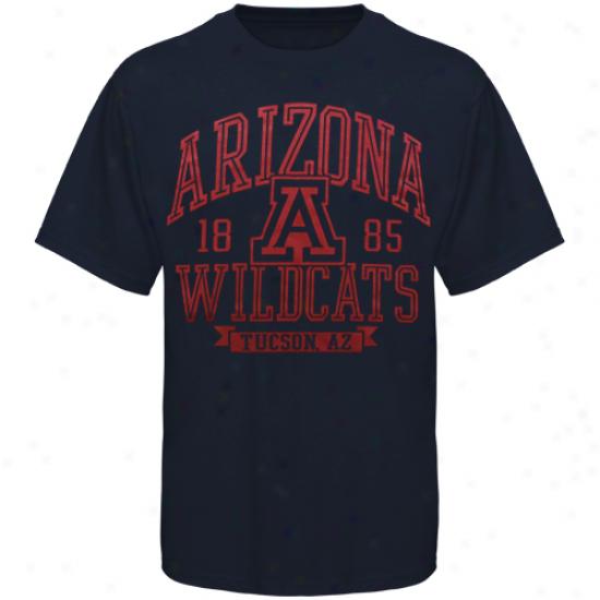 Arizona Wildcats Inliner T-shirt - Navy Blue