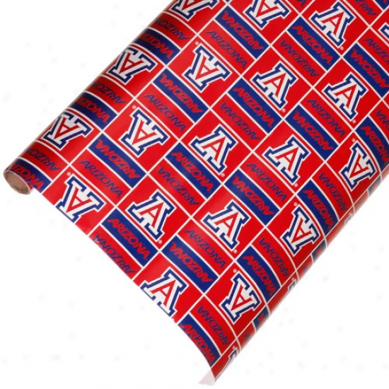 Arizona Wildcats Spirit Block Wrapping Paper